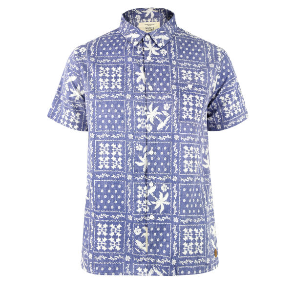 native youth mens nysh34 palm blue amp shirt white free