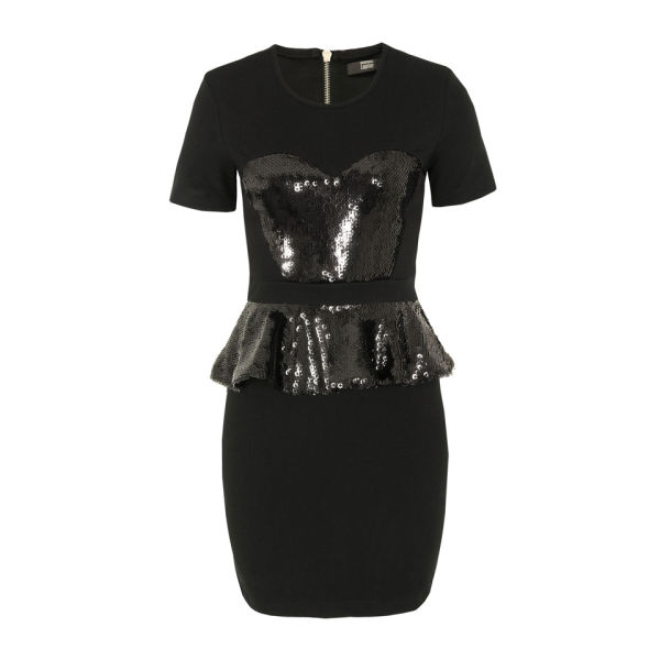 Markus Lupfer Women's DR365 Peplum Frill Dress - Black
