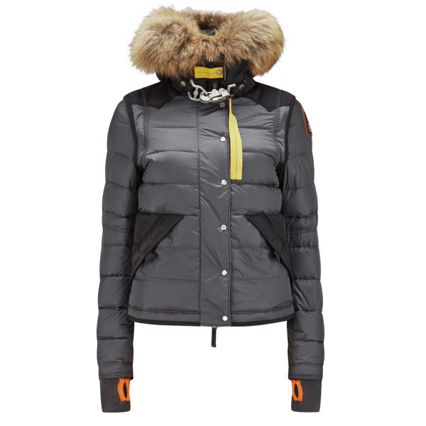 Parajumpers Women's Glacier Nylon Down Jacket with Fur Hood - Asphalt: Image 1
