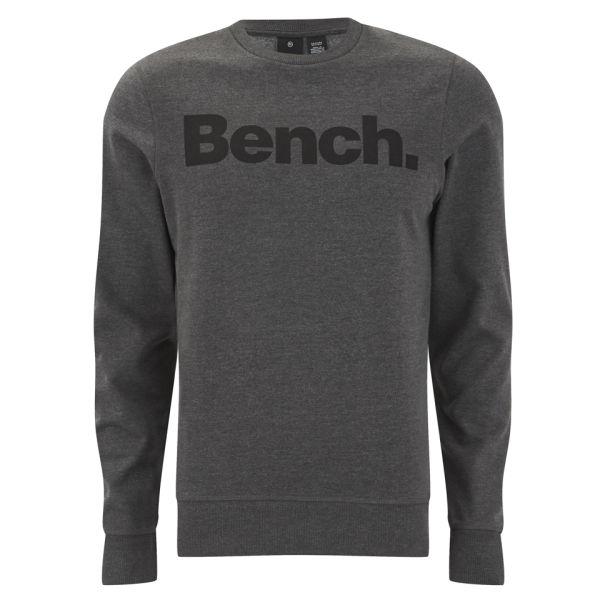 Bench Men 39 S Bench Crew Corp Sweatshirt Anthracite Marl Mens Clothing