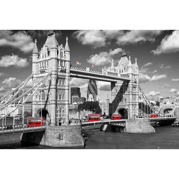 London Tower Bridge Buses - Maxi Poster - 61 x 91.5cm