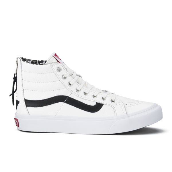 56ebef0222f7eb Vans Women s SK8-Hi Slim Zip Leather Hi-Top Trainers - True White ...
