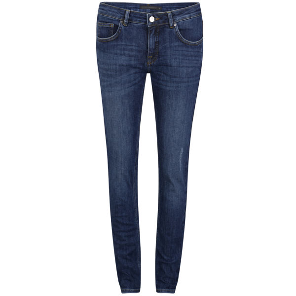 Victoria Beckham Women's Mid Rise Superskinny Woven Jeans - Indigo Vintage