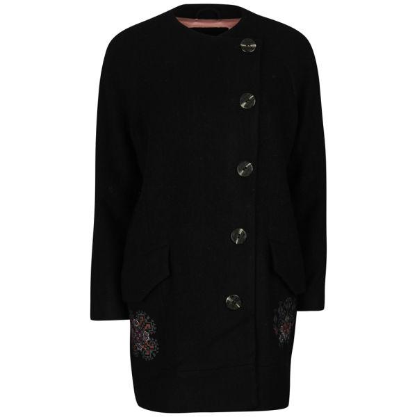 Odd Molly Women's Forawalk Wool Coat - Almost Black