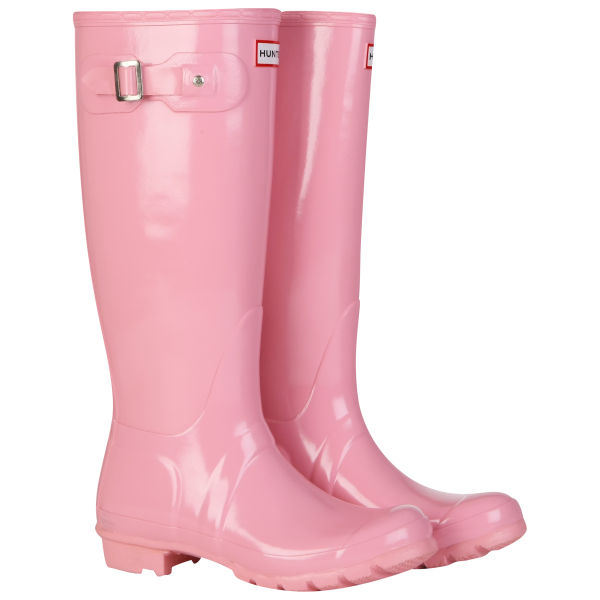 Hunter Women's Original Tall Gloss Wellies - Candy Pink