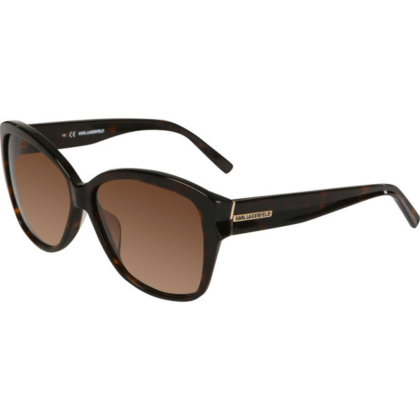 Karl Lagerfeld Oversized Cat Eye Sunglasses - Havana