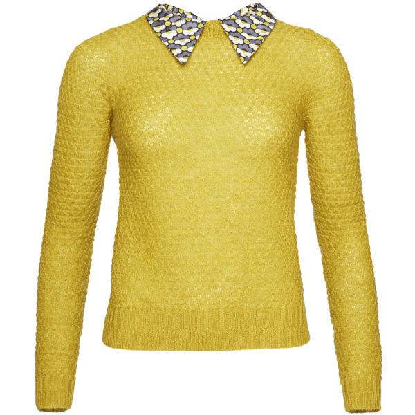 Orla Kiely Women's Mohair Sweater - Moss