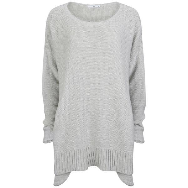 D.EFECT Women's Garey Cotton Sweater - Light Grey