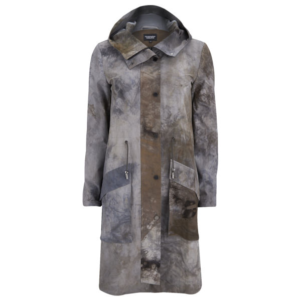 Christopher Raeburn Women's Tech Stretch Hybrid Coat - Grey