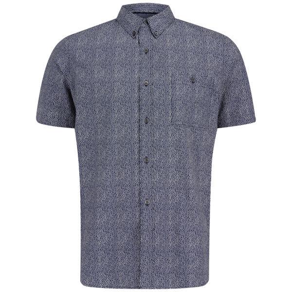 French connection men 39 s lifeline short sleeve shirt for Mens short sleeve floral shirt