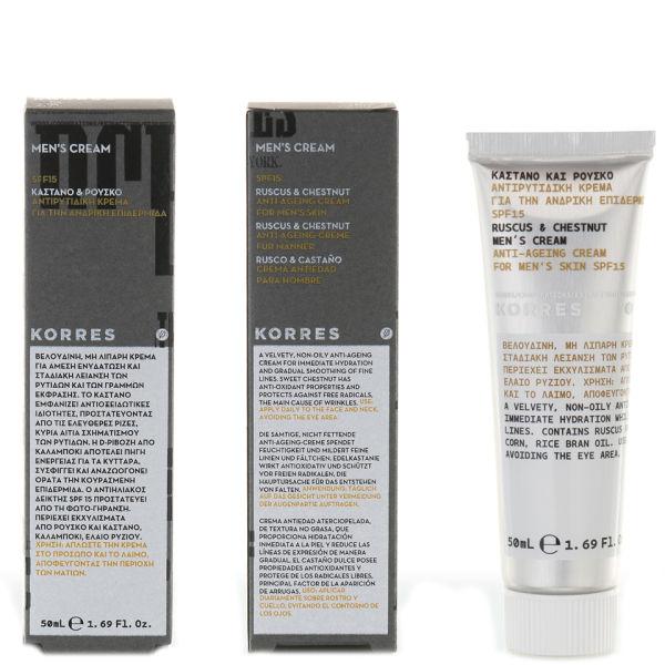Korres Ruscus Amp Chestnut Anti Ageing Cream Spf15 50ml