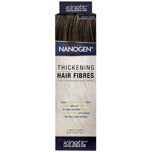 Nanogen Fibres épaississantes pour cheveux - châtain moyen (30g)