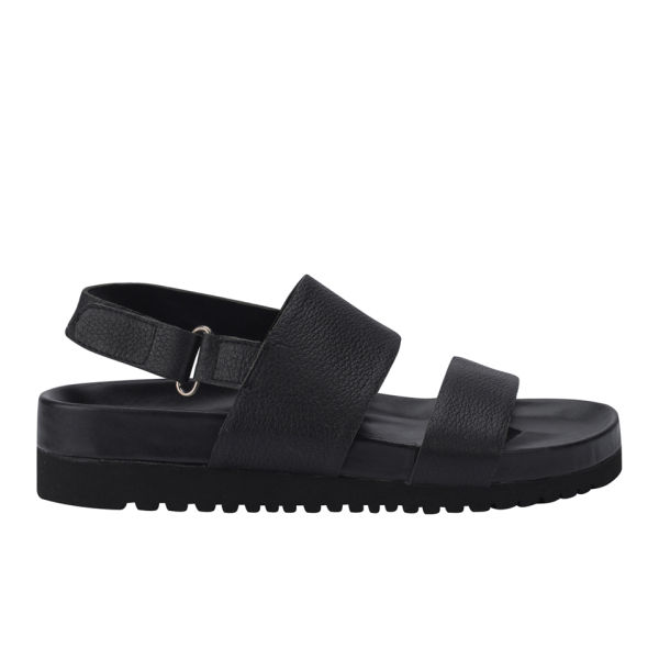 Senso Women's Iggy Leather Slide Sandals - Black