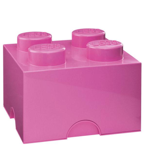 Brique de rangement LEGO® rose 4 tenons