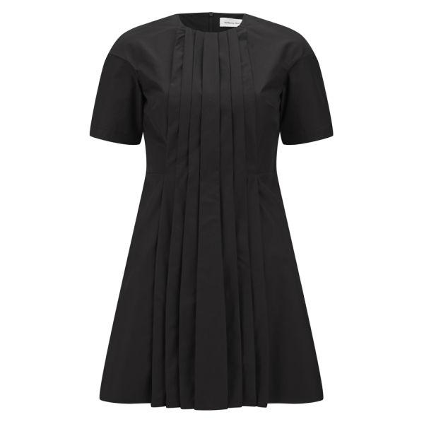 Victoria Beckham Women's Front Pleat Dress - Black