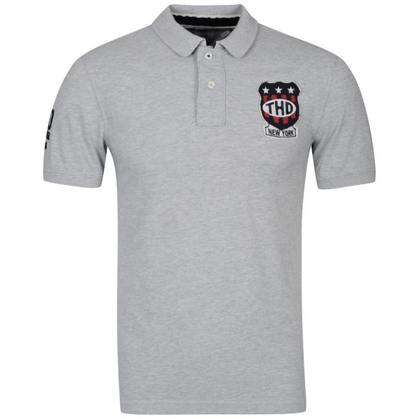 9a36a524a Tommy Hilfiger Men's Pilot Badge Polo Shirt - Light Grey Heather: Image 1