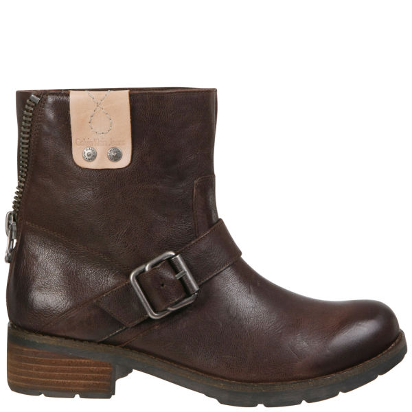 CK Jeans Women's Hadley Biker Boots - Dark Brown