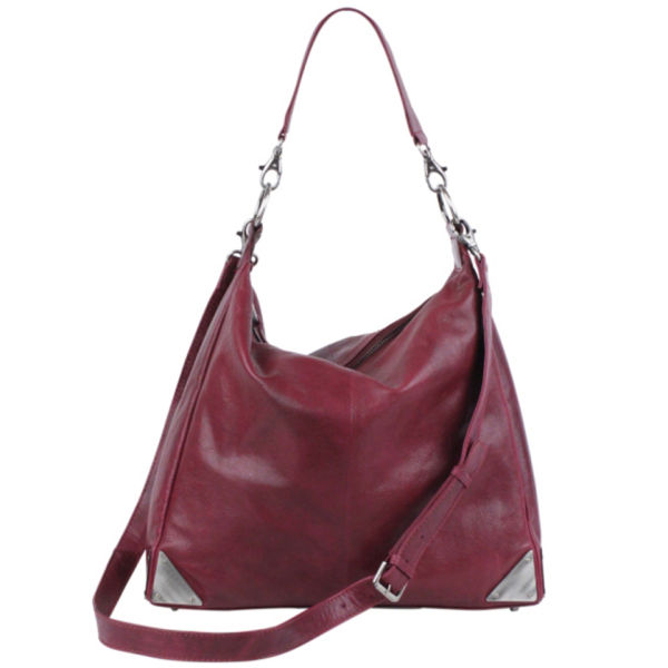 Markberg Eliza Leather Shoulder Bag - Burgundy
