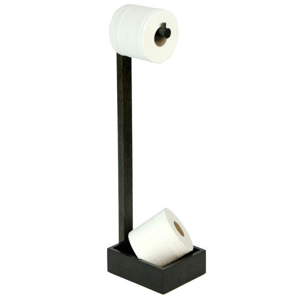 Wireworks Dark Oak Freestanding Toilet Roll Holder