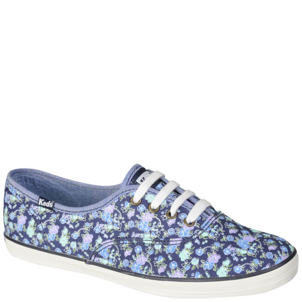 Keds Floral Champion Oxford Pumps - Navy