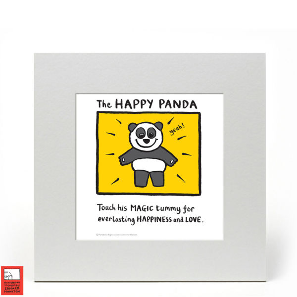 Edward Monkton Fine Art Print - Happy Panda