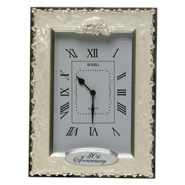 Traditional 30th Wedding Anniversary Gift: 30th Anniversary Celebration Clock Traditional Gifts