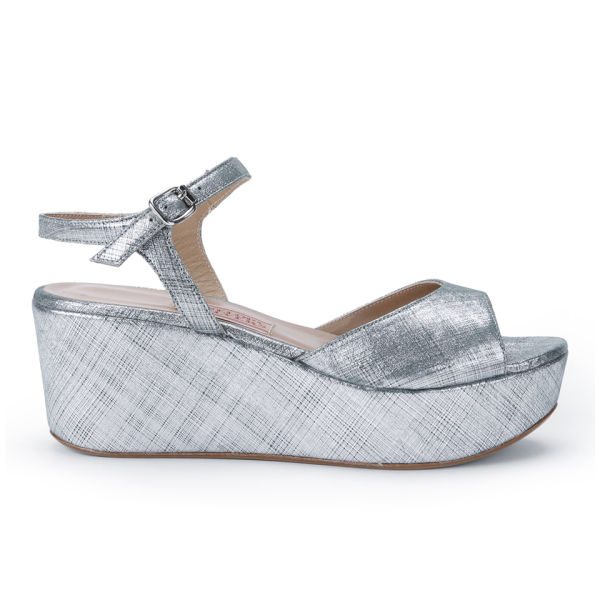 Penelope Chilvers Women's Isla Leather Flatforms - Silver