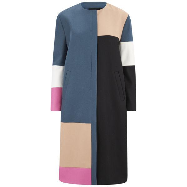 D.EFECT Women's Megan Patchwork Colour Block Coat - Multi