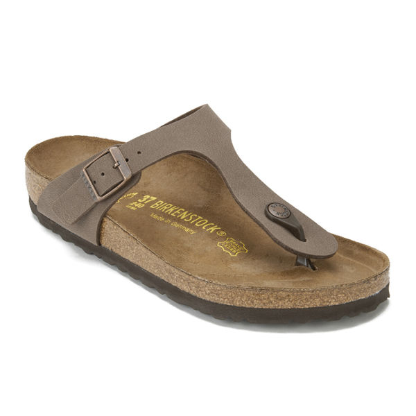a84d2866aca0a5 Birkenstock Women s Gizeh Toe-Post Leather Sandals - Mocha  Image 5