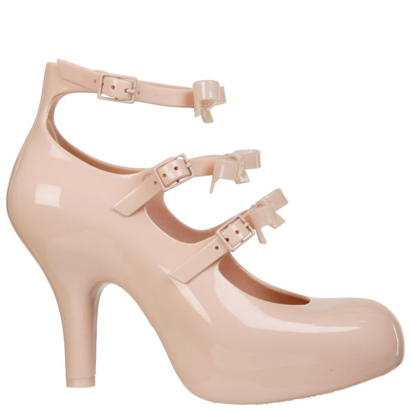 Vivienne Westwood for Melissa Women's 3 Strap Elevated Bow Heels - Nude
