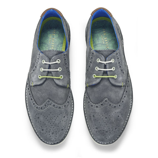 adc8094e8 Ted Baker Men s Jamfro 3 Suede Brogues - Grey  Image 2