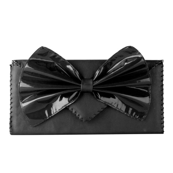 Nook & Willow Exclusive to MyBag Bow Clutch - Black