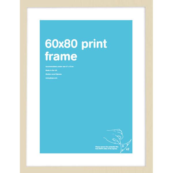 Beech Frame 60 x 80 cm Print