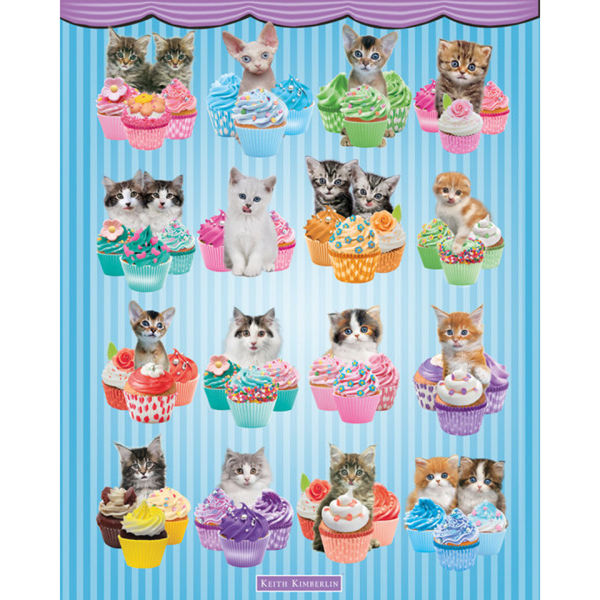 Keith Kimberlin Kittens Cupcakes - Mini Poster - 40 x 50cm