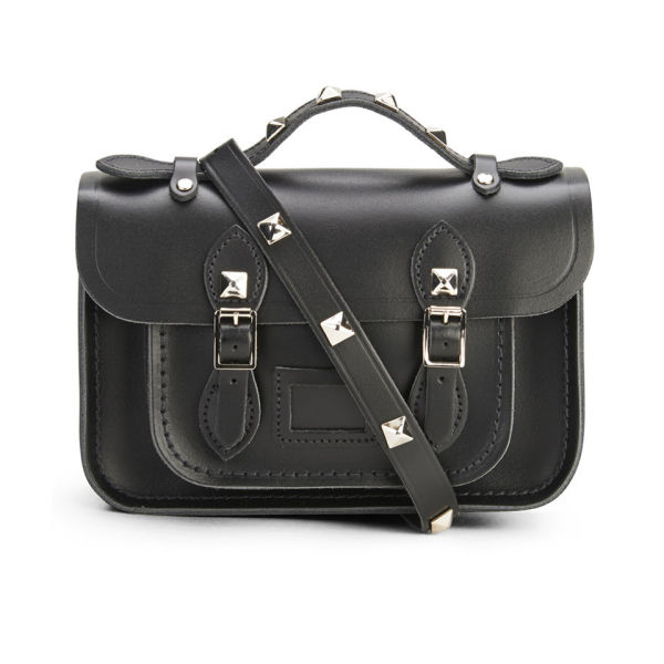 The Cambridge Satchel Company Women's Mini Satchel with Pyramid Studs - Black