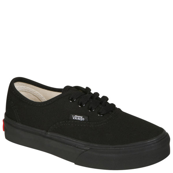 vans all black kids
