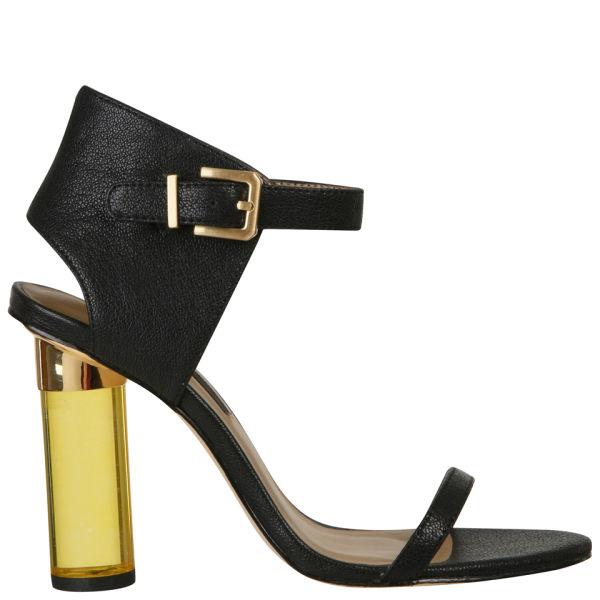 Senso Women's Sasha Perspex Heels - Black/Yellow