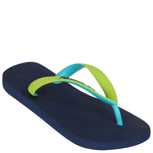 Havaianas Unisex Top Mix Flip Flops - Navy Blue/Green