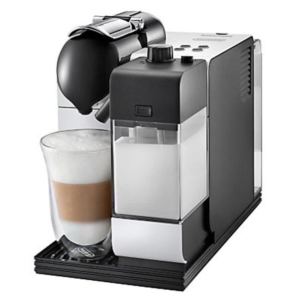 de 39 longhi nespresso lattissima capsule coffee machine silky white homeware. Black Bedroom Furniture Sets. Home Design Ideas