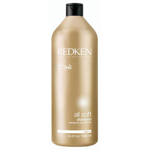 Redken All Soft Shampoo 1000 ml med pumpe - (Verdt £ 45,50)