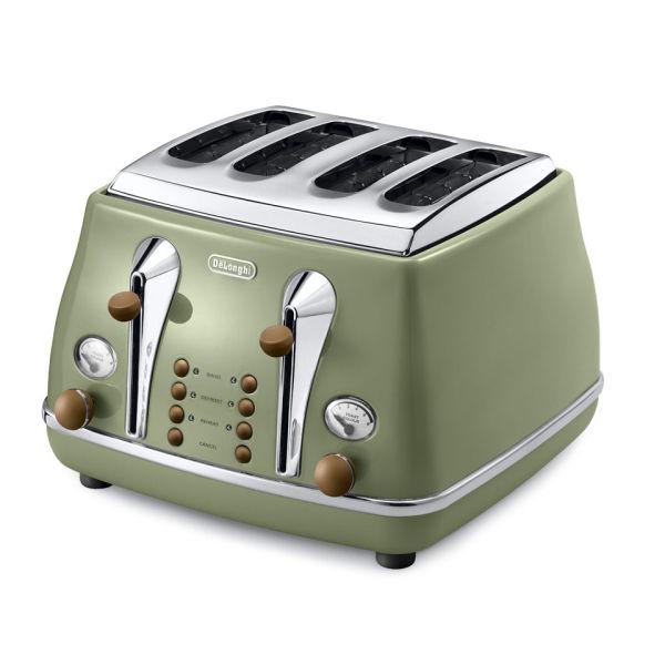 DeLonghi CTOV4003 Icona Vintage 4 Slice Toaster
