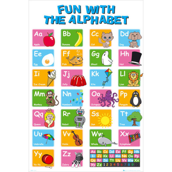 Educational Alphabet - Maxi Poster - 61 x 91.5cm Merchandise ...