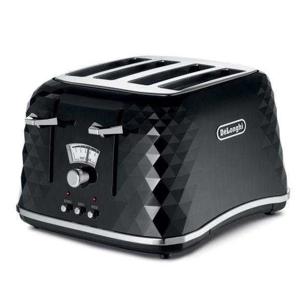 De'Longhi CTJ4003 Brilliante 4 Slice Toaster - Black