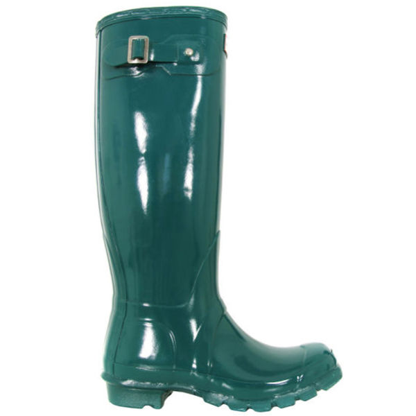 Hunter Women's Original Tall Gloss Wellies - Lagoon Green