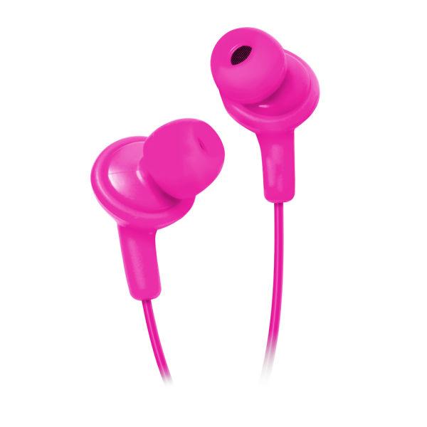 HMDX Jam Sqsh Premium Noise Isolating Earphones - Pink