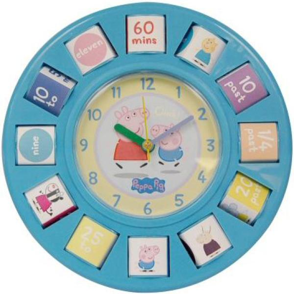 Peppa Pig Rotating Blocks Wall Clock Toys Thehut Com