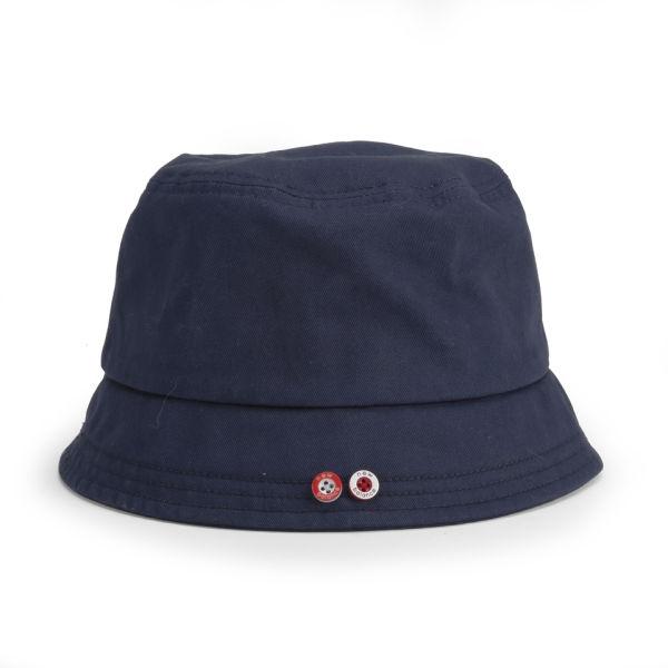 New Balance Unisex Glasto Cotton Bucket Hat - Navy White Clothing ... f758a0643f5