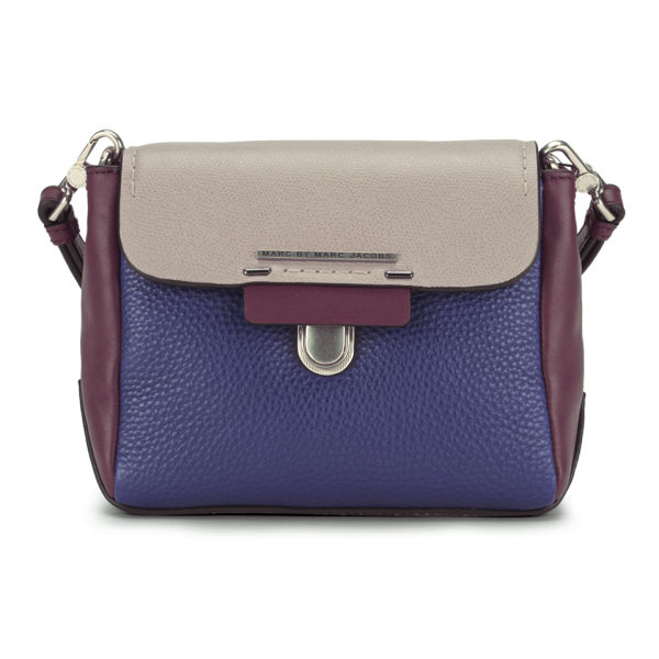 Marc by Marc Jacobs Leather Sheltered Island Noah Colour Block Cross Body Bag - Ultra Blue Multi