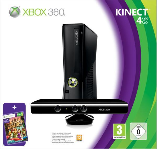 Xbox 360 4GB Console + Kinect Bundle Games Consoles | Zavvi