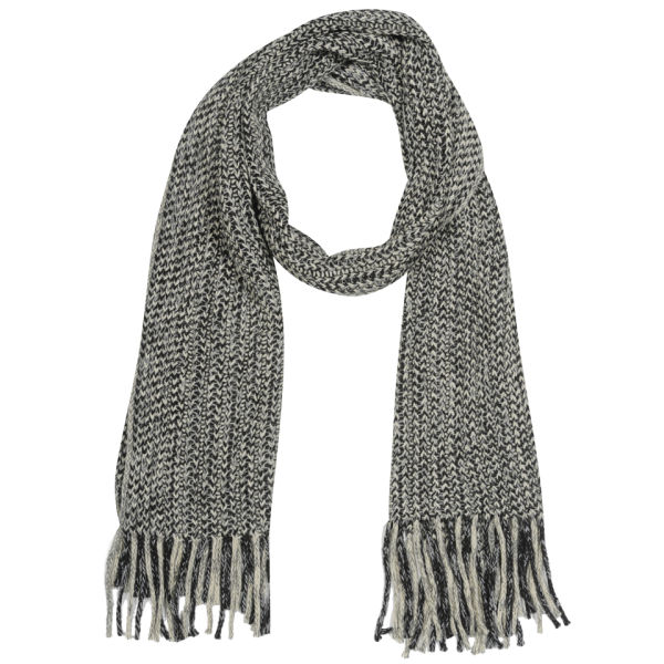 Mens Cable Knit Scarf Black Clothing Thehut